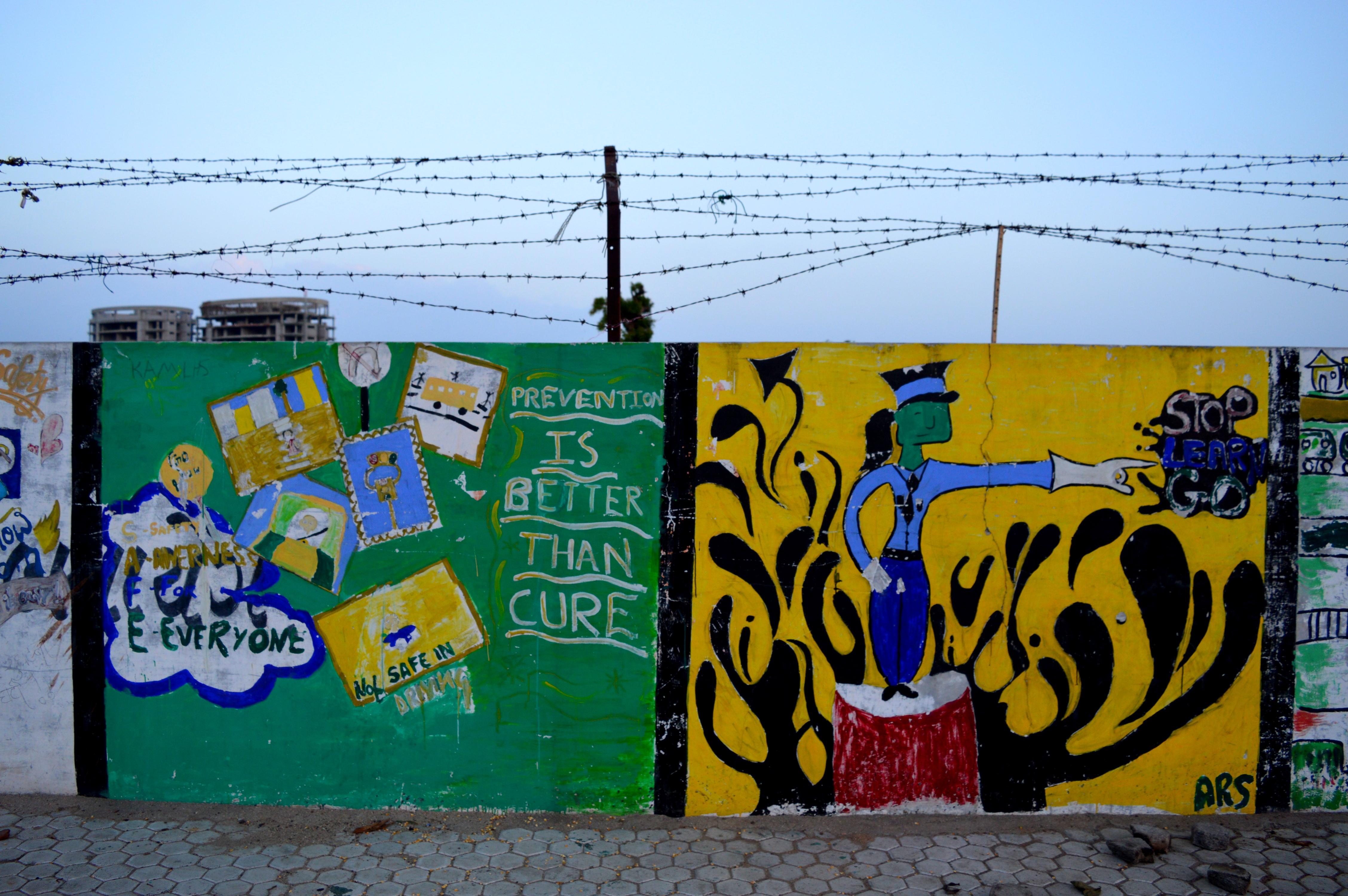 Wall Decor In Vadodara : Wall art at rhino circle vadodara tales food life