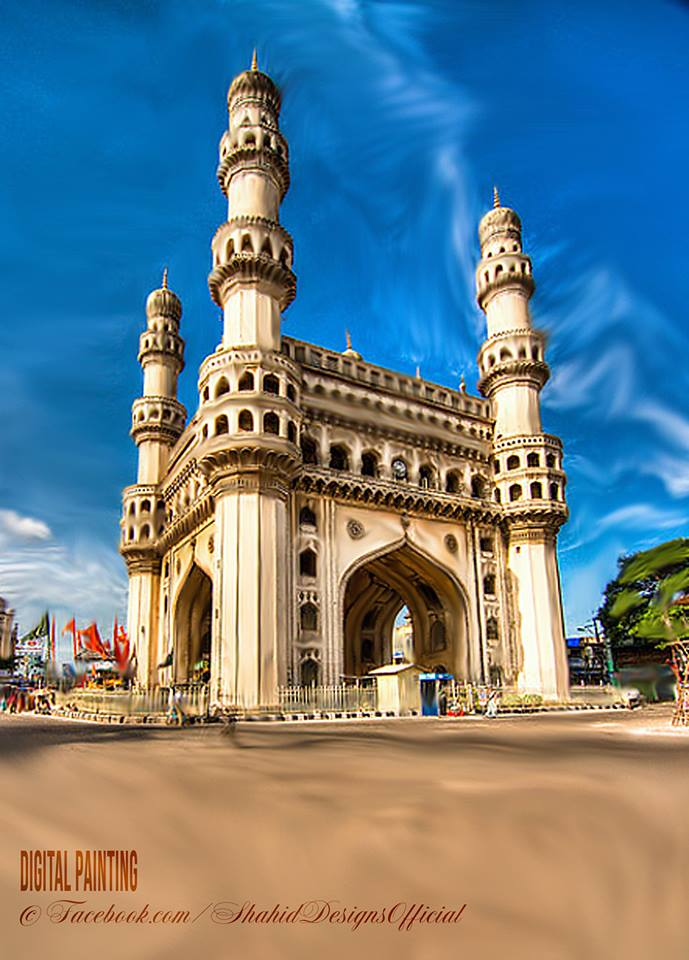 charminar digital painting